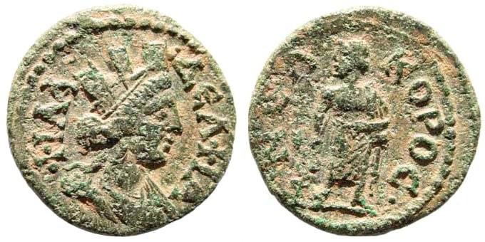 Ancient Coins - Lydia, Philadelphia. 3rd century AD. AE 19mm (4.03 gm). BMC 50