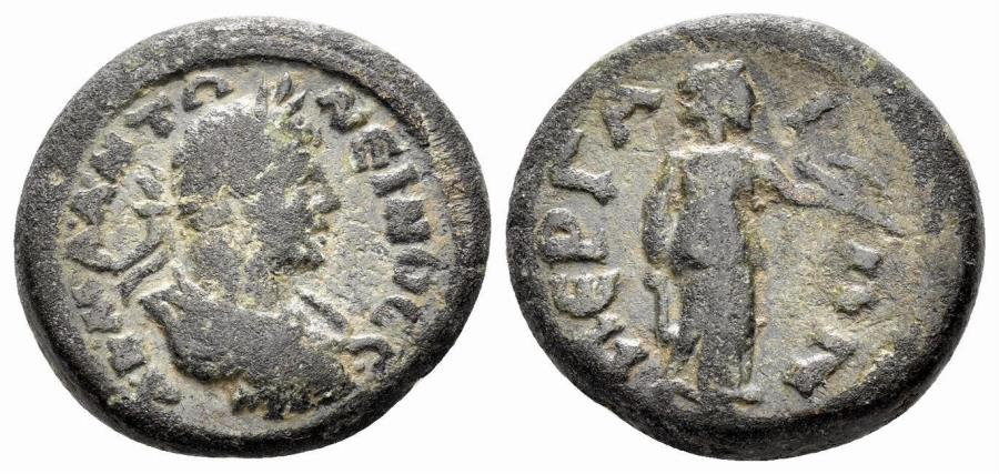 Ancient Coins - Pamphylia, Perge. Caracalla. 198-217 AD. AE 19mm (6.23 gm). SNG Copenhagen 325