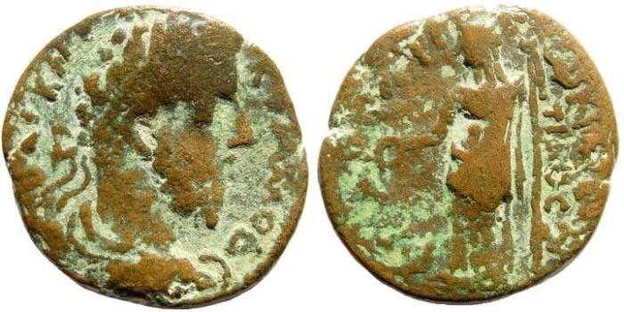 Ancient Coins - Cilicia, Philadelphia. Commodus. 177-192 AD. AE 25mm (8.2 gm). SNG Levante 579 (same dies). Very rare