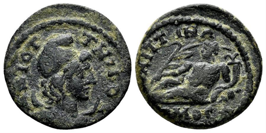 Ancient Coins - Lydia, Saitta. 3rd century AD. AE 20mm (5.01 gm). BMC 23; SNG München 438