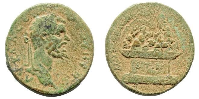 Ancient Coins - Cappadocia, Caesarea. Septimius Severus. 198-217 AD. AE 27mm (17.00 gm). 194 AD. Sydenham 422