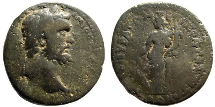 Ancient Coins - Phrygia, Kibyra. Septimius Severus. 193-211 AD. AE 35mm (21.78 gm). BMC 49; SNG Tübingen 4100 (same dies)