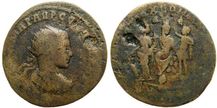 Ancient Coins - Syria, Antiochia. Severus Alexander. 222-235 AD. AE 31mm (14.54 gm). BMC 475