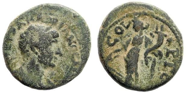 Ancient Coins - Phoenicia, Ake-Ptolemais. Hadrian, 117-138 AD. AE 19mm (5.46 gm). Kadman 107; Rosenberger I p. 26, 49