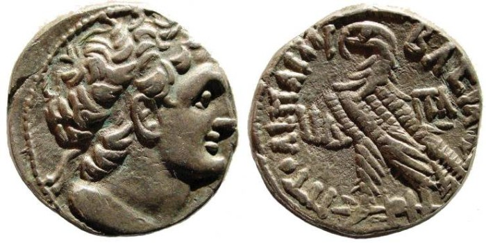 Ancient Coins - Ptolemaic Kingdom, Ptolemy X Alexander. 101-88 BC. AR Tetradrachm (13.42 gm). SNG Copenhagen 369; Svoronos 1680