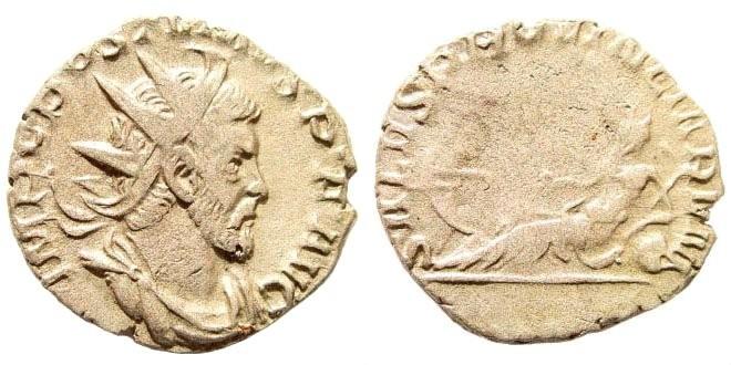 Ancient Coins - Postumus, 260-269 AD. AE Antoninianus (2.70 gm, 21mm). Cologne, 260 AD. RIC V 87. Elmer 41, 123; Cohen 355; Schulzki 64, 88c