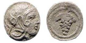 Ancient Coins - Cilicia, Soloi. Circa 385-350 BC. AR Hemiobol (0.23 gm). Hauck and Aufhäuser 18, 2004, #346 (same dies)
