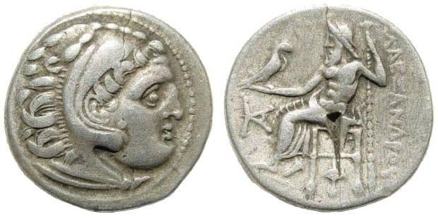 Ancient Coins - Macedonian Kingdom, Alexander III, 336-323 BC, AR Drachm (4.20 gm, 19mm). Colophon mint, 310-301 BC. Price 1823