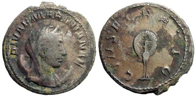 Ancient Coins - Mariniana. Died 253 AD. AR Antoninianus (3.78 gm, 23mm). Rome 253-260 AD. RIC 3; Cohen 2
