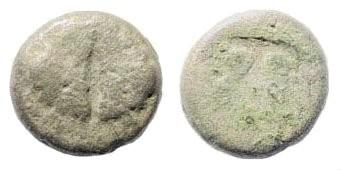 Ancient Coins - Lesbos Uncertain. Circa 550-440 BC. Billon (1.11 gm, 9mm). SNG Copenhagen 288