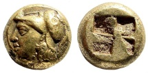 Ancient Coins - Ionia, Phokaia. Circa 387-326 BC. EL Hekte (2.53 gm, 9mm). Bodenstedt 111; SNG Copenhagen 1030