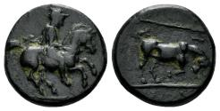 Ancient Coins - Thessaly, Krannon. Circa 350-300 BC. AE Chalkous (2.45 gm, 13mm,). BCD Thessaly II 118.6
