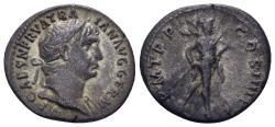 Ancient Coins - Trajan. 98-117 AD. AR Denarius (3.21 gm, 19mm). Rome mint. Struck 101-102 AD. RIC II 52