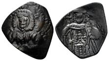 Ancient Coins - Latin Rulers of Constantinople, 1204-1261. Billon aspron Trachy (1.92 gm, 21mm). Constantinople mint. SB 2024