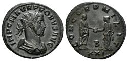 Ancient Coins - Probus,  276-282 AD. AE Silvered Antoninianus (3.80 gm, 21mm). Siscia mint. RIC 651