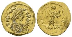 Ancient Coins - Phocas. 602-610. AV Semissis (2.16 gm, 18mm). Constantinople mint. Struck 607-610. SB 631