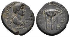 Ancient Coins - Lydia, Thyateira. Domitia, Augusta, 82-96 AD. AE 16mm (3.30 gm). RPC II 945