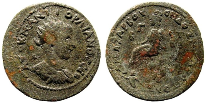 Ancient Coins - Cilicia, Anazarbos. Gordian III. 238-244 AD. AE 33mm (19.84 gm). SNG Levante Suppl. 352 (same dies). Very rare