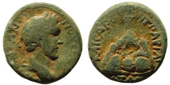 Ancient Coins - Cappadocia, Caesarea. Antoninus Pius. 138-161 AD. AE 17mm (5.29 gm). Dated 151 AD. Cf. Copenhagen 309