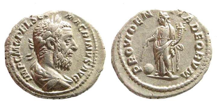 Ancient Coins - Macrinus. 217-218 AD. AR Denarius (2.81 gm, 20mm). Rome mint, spring 218 AD. RIC IV 80