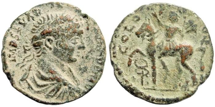 Ancient Coins - Phoenicia, Ake-Ptolemais. Severus Alexander, 222-235 AD. AE Assarion (6.15 gm, 22mm). SNG Copenhagen 186. Rare