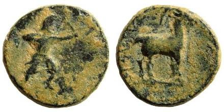 Ancient Coins - Lycia, uncertain mint. Persian Satrap in Lycia (?). 4th century BC. AE 13mm (1.70 gm). SNG Keckman 512