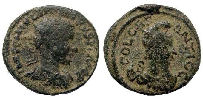 Ancient Coins - Pisidia, Antiocheia. Philip I, 244-249 AD. AE 22mm (6.78 gm). Krzyzanowska IV/30