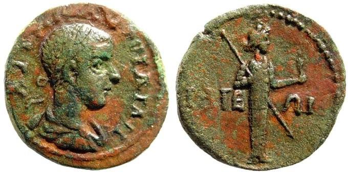 Ancient Coins - Troas, Ilium. Gordian III.. 238-244 AD. AE 19mm (4.48 gm). Bellinger T 280; (same dies); Weber 5414