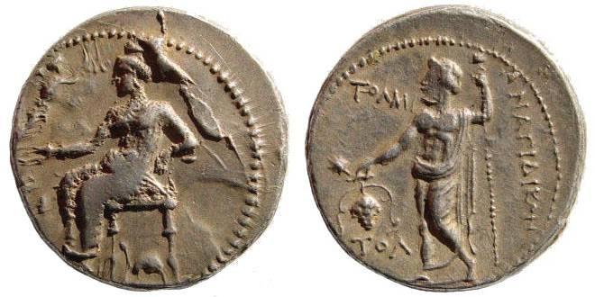 Ancient Coins - Cilicia, Nagidos. Circa 356-333 BC. AR Stater (10.08 gm). SNG levenate Supp. 7 (same dies)