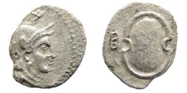 Ancient Coins - Cilicia, Tarsos. Balakros. 333-323 BC. AR Obol (0.58 gm). SNG France 123