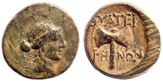 Ancient Coins - Lydia, Thyateira. 2nd century BC. AE 16mm (4.51 gm).  SNG Copenhagen 570; SNG von  Aulock 3200