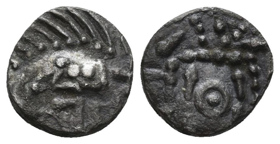 World Coins - Anglo-Saxon. Circa 695-740 AD. AR Sceatta (1.15 gm, 11mm). S 789