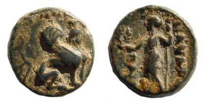 Ancient Coins - Pamphylia, Perge, bronze in Pamphylian dialect