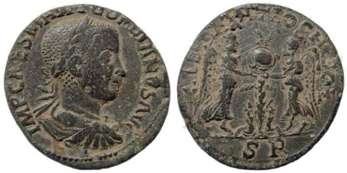 Ancient Coins - Pisidia, Antioch. Gordian III, 238-244 AD. AE 34 mm (25.81 gm). SNG France 1236