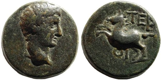 Ancient Coins - Lycia, Termessos Minor/ by Oenoanda. Tiberius (?) 14-37 AD. AE 20mm (6.97 gm). RPC I, 3358;  SNG von Aulock 4461. Rare