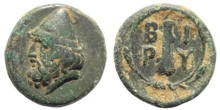 Ancient Coins - Troas, Birytis. Circa 300 BC. AE 11mm (1.41 gm, 11mm). SNG München 170; SNG Tübingen 2574; SNG Copenhagen 250; BMC 6
