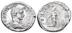 Ancient Coins - Geta. 209-212 AD. AR Denarius (3.17 gm, 20mm). Rome mint. Struck 209-210 AD. RSC 104; RIC 34a