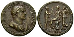 "World Coins - 19th Century or earlier AE Cast ""Sestertius"" (26.29 gm, 35mm). ""Paduan"" medal. Trajan"
