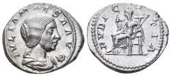 Ancient Coins - Julia Maesa. Augusta, 218-224/5 AD. AR Denarius (3.44 gm, 20mm). Rome mint. RIC IV 268