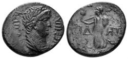 Ancient Coins - Pamphylia, Side. Nero. 54-68 AD. AE 20mm (4.72 gm). Circa 55 AD. RPC I 3401