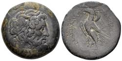 Ancient Coins - Ptolemaic Kingdom. Ptolemy IV Philopator. 221-204 BC. AE Diobol. (23.14 gm). Alexandria. Weiser 98 (Ptolemy V, no ΣE)