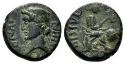 Ancient Coins - Britannia, Trinovantes & Catuvellauni. Cunobelin. Circa 10-43 AD. AE Unit (2.437 g, 14mm). Metal Worker. Van Arsdell 2097