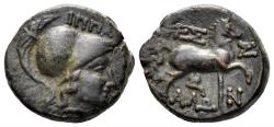 Ancient Coins - Thessaly, Thessalian League. Circa 196-27 BC. AE 17mm (4.46 gm). Ippaitas, magistrate. BCD Thessaly II 840