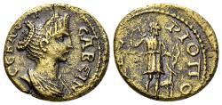 Ancient Coins - Phrygia, Tiberiopolis. Sabina, Augusta, 128-137 AD. AE 18mm (3.00 gm). RPC III 2519
