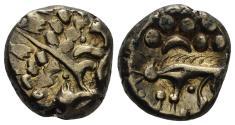 """Ancient Coins - Britannia, Iceni. 65-45 BC. AV-Stater (5.60 gm, 16mm). """"Norfolk Wolf"""" type. van Arsdell 610-3"""