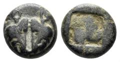 Ancient Coins - Lesbos uncertain. Circa 550-440 BC. Billon (1.19 gm, 9mm). SNG Copenhagen 288