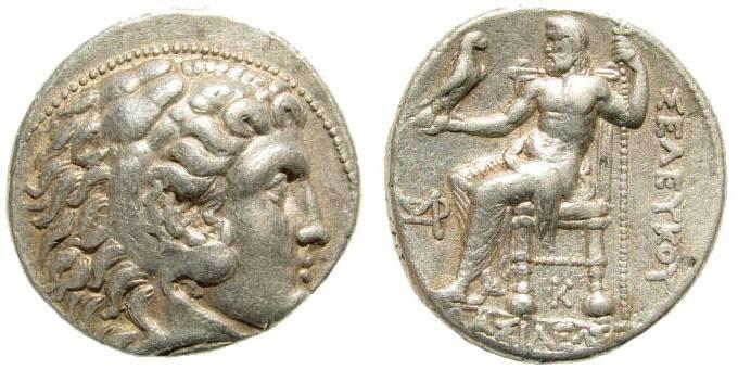 Ancient Coins - Seleukid Kings. Seleukos I Nikator. 312-281 BC. AR Tetradrachm (17.15 g, 10h). Seleukeia I mint. Struck in circa 300-281 BC. SC 117.1d