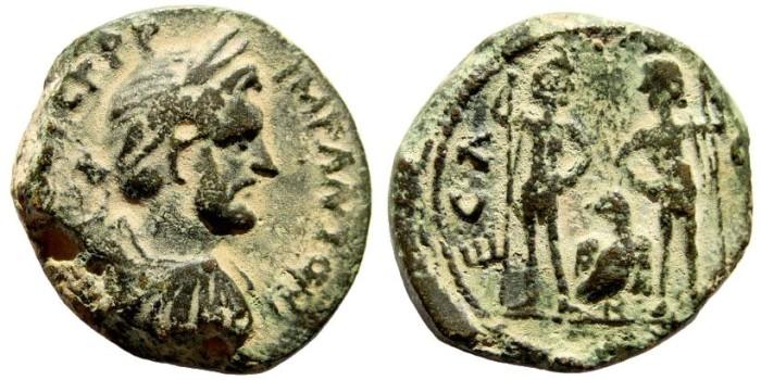 Ancient Coins - Judaea, Aelia Capitolina (Jerusalem). Antoninus Pius, 138-161 AD. AE 22mm (8.6 gm). Rosenberger 14, SNG 596