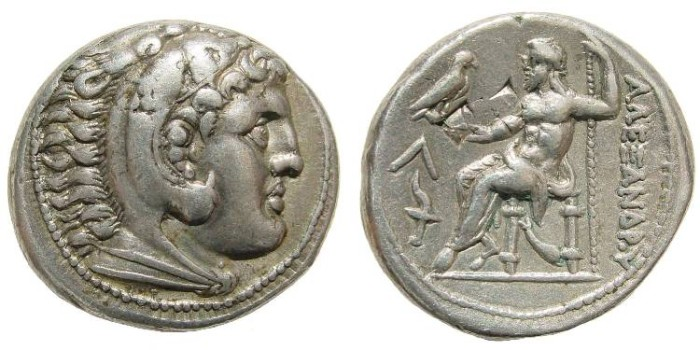 Ancient Coins - Macedonian Kings. Alexander III 'the Great'. 336-323 BC. AR Tetradrachm (17.02 gm, 27mm, 2h). 'Amphipolis' mint. circa 315-294 BC. Price 485