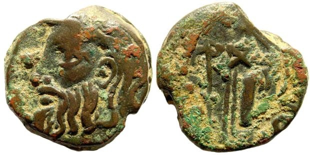 Ancient Coins - Skythia, Olbia. Circa 330-300 BC. AE 22mm (10.31 gm). SNG BM Black Sea 467